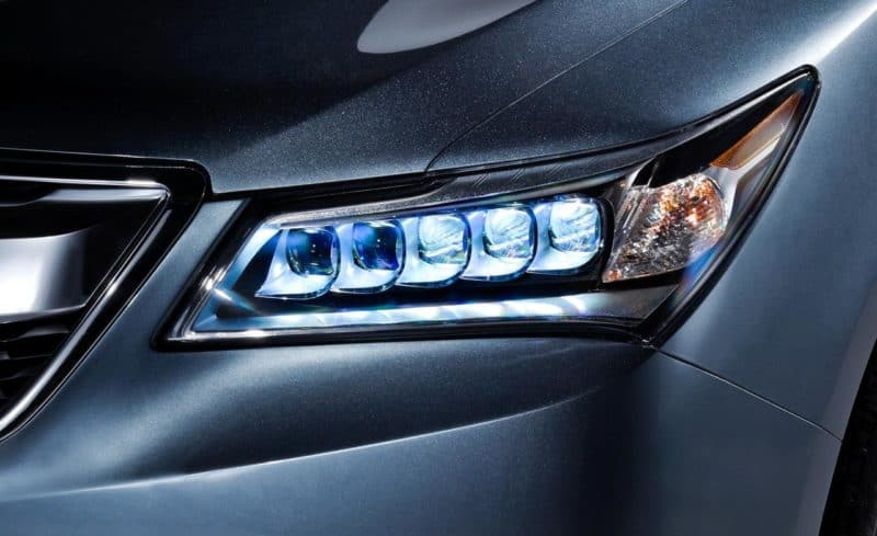 LED Headlamps Installed On A Car