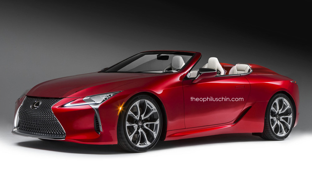 Lexus Lc 500 Convertible Digital Rendering And Future Variants