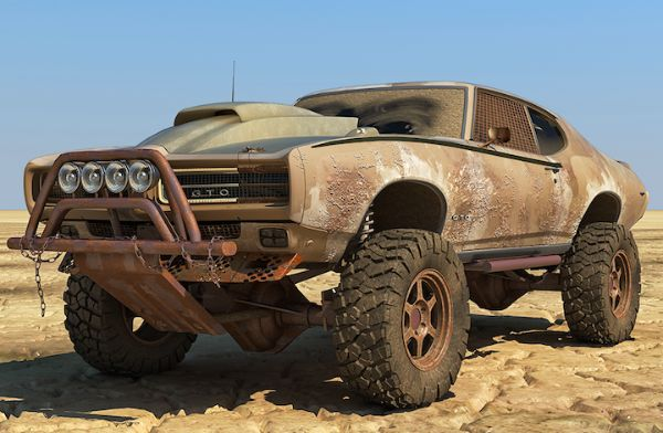 Pontiac Gto Mad Max Off Road Rendering How Does It Compare To The