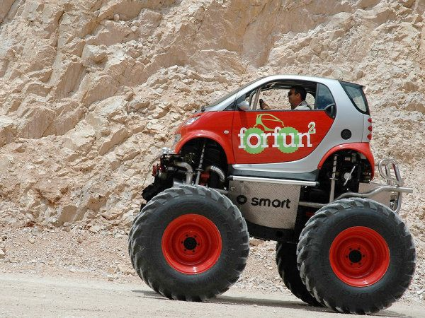 Lifted Smart Car