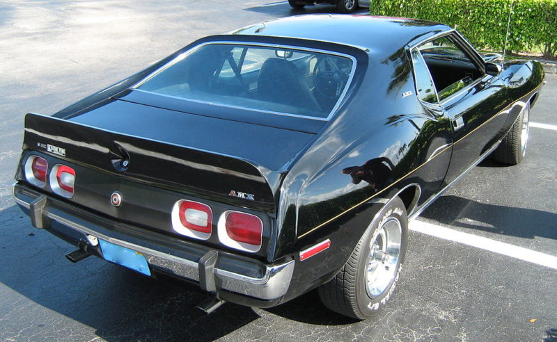 1974 AMC Javelin AMX black rear
