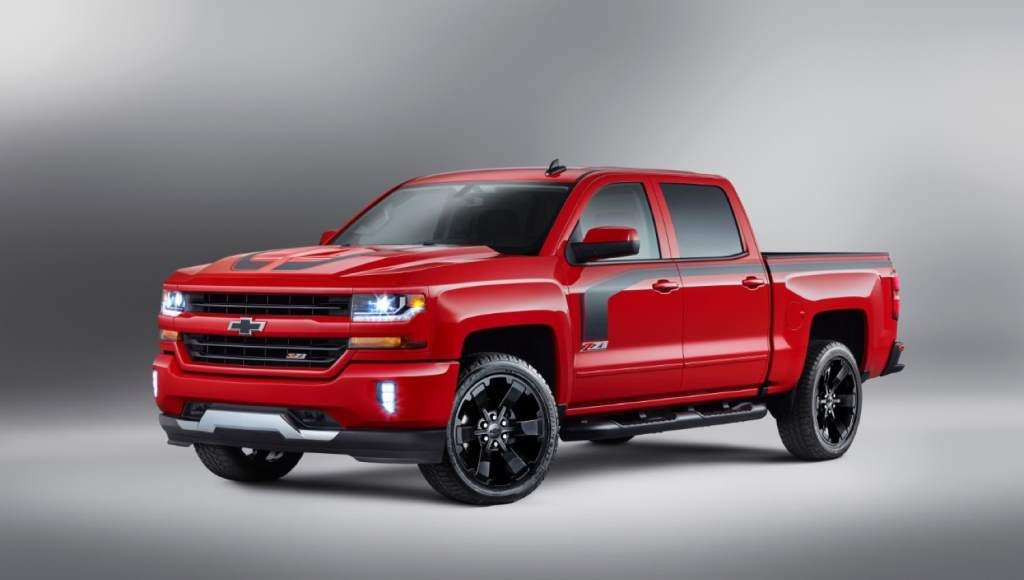 In The 2016 Chevy Silverado Rally Edition