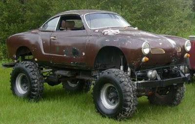 strange lifted car