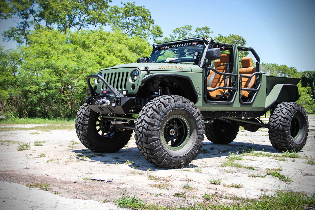 Jeep Jk Crew Bruiser On 44 S With A Truck Bed And Four Doors
