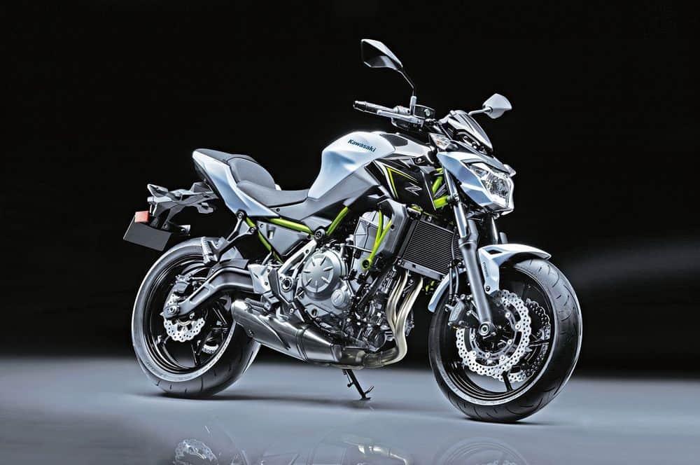 Kawasaki Z650 Front Side View