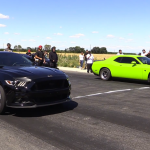Tuned Mustang and Hellcat Challenger Engage in an Interesting Drag Race