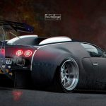 Veyron As You Never Imagined It Is Stanced And Has An Enormous Wing