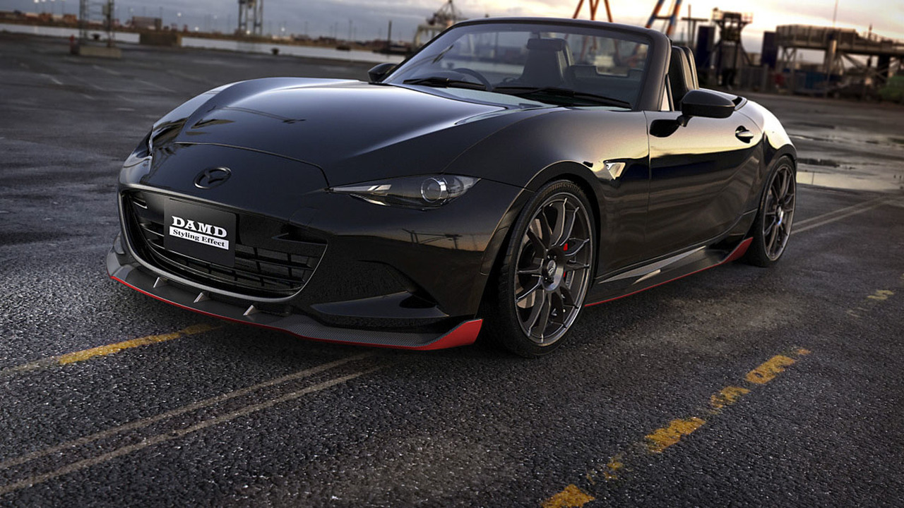 mazda mx 5 miata tuned by damd dark knight with style. Black Bedroom Furniture Sets. Home Design Ideas