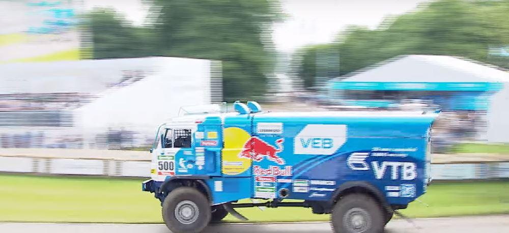 20,000 lbs Kamaz Dakar Truck Drifts its Way at Goodwood Festival of Speed
