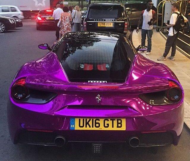 Chrome Purple Ferrari 488 GTB - Image 04