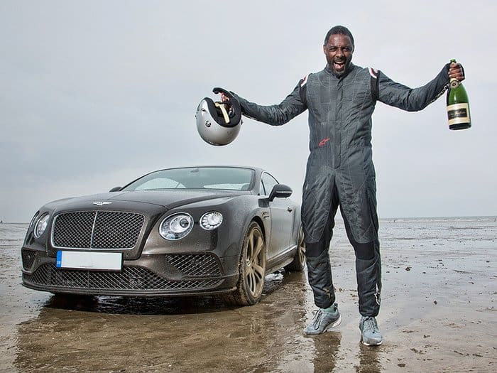 Idris Elba With His Bentley Continental GT