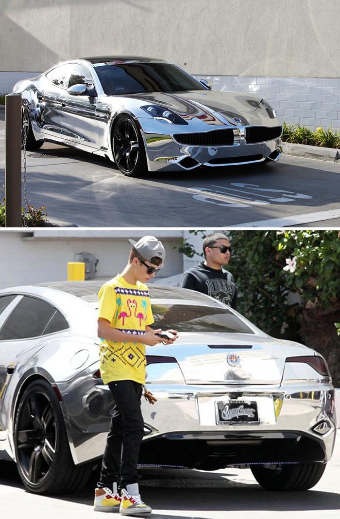 Celebrity Cars – Justin Bieber – Fisker Karma
