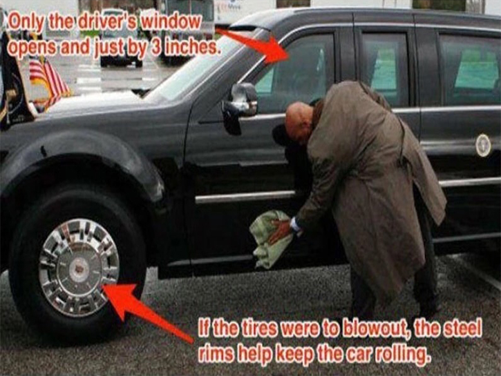 driver can roll his window, but only for 3 inches