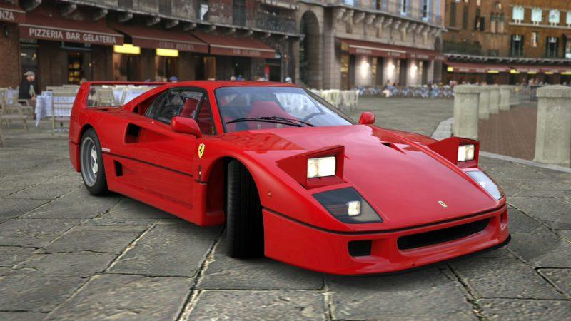 Cars With Pop-Up Headlights: Ferrari F40