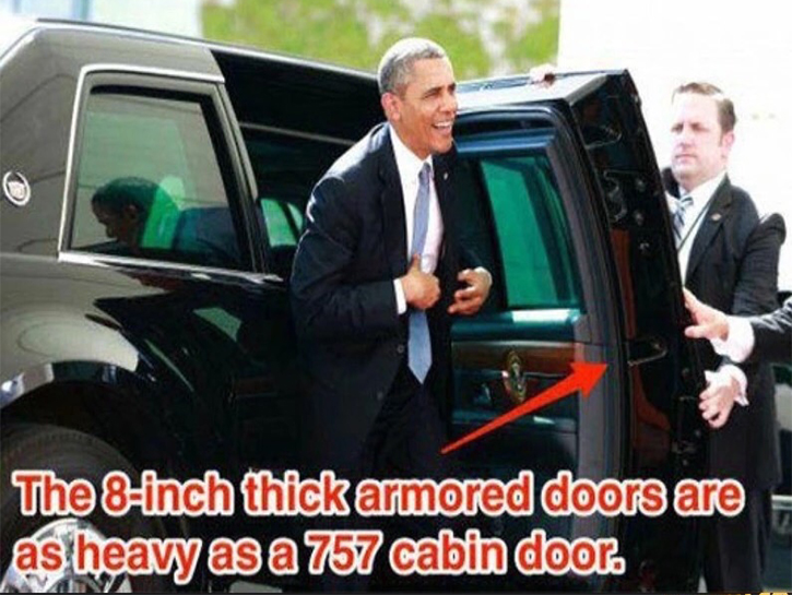 heavy as cabin doors on Boeing 757