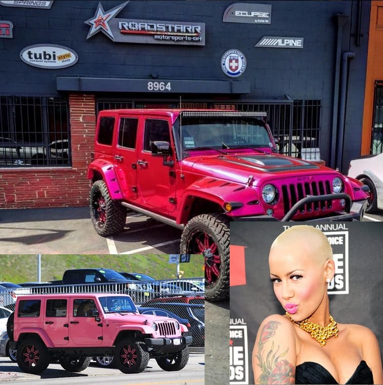 Amber Rose's Pink Jeep