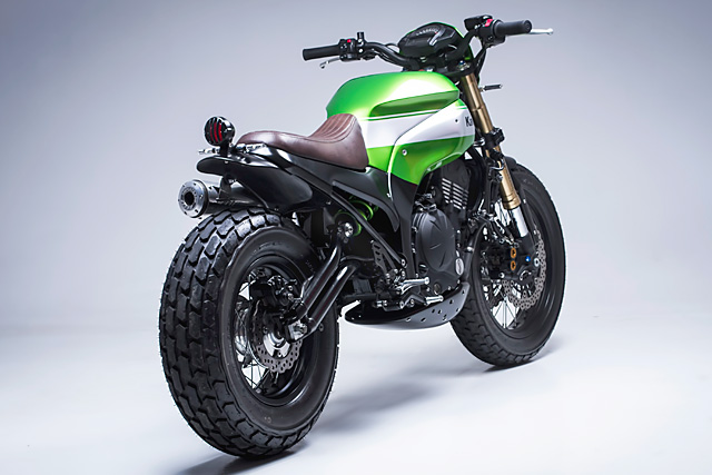 "White Tire Paint >> Kawasaki Ninja 650 ""Urban X"" Scrambler Custom"