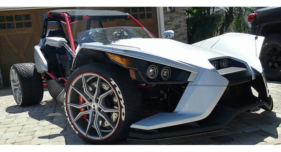 Polaris Slingshot Gets Awesome Fourth Wheel Modification