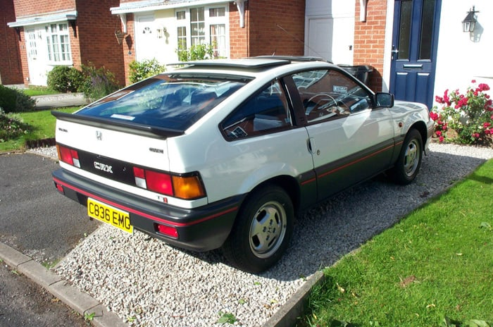 box shaped cars - 1985 Honda CRX MK1 3