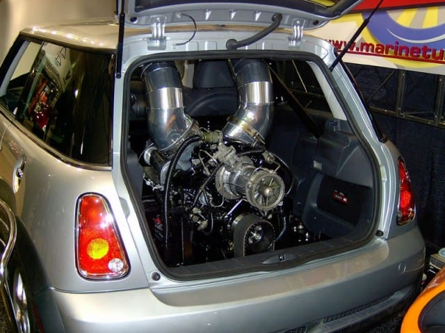 Helicopter Gas Turbine Engine Powered Mini Cooper