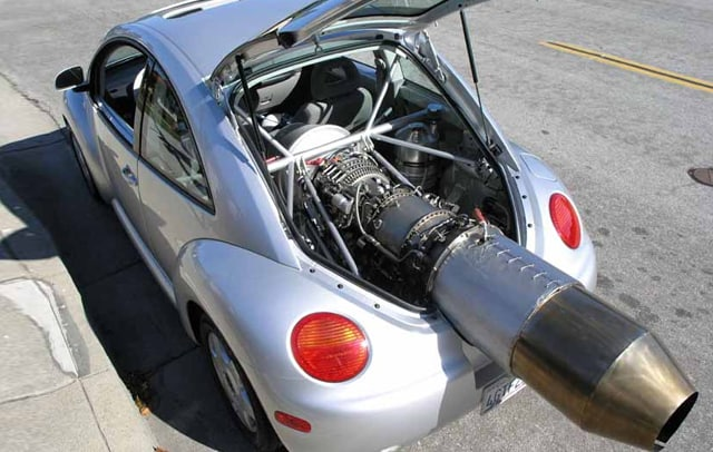 Jet Engine Powered VW New Beetle