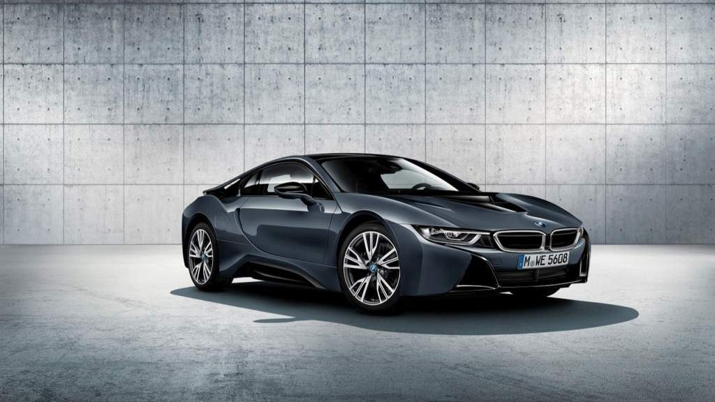 bmw i8 protonic dark silver edition front 3/4