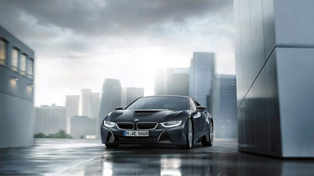 bmw i8 protonic dark silver edition front view