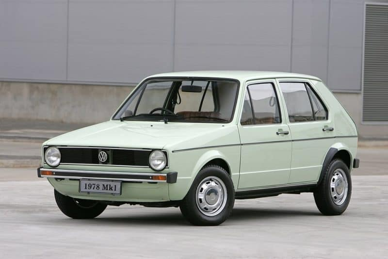 box shaped cars - VW golf-mk1-1978