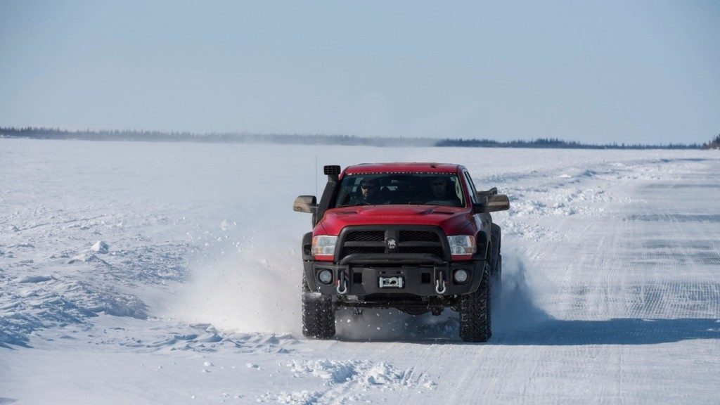 AEV Prospector XL in Snow Front View