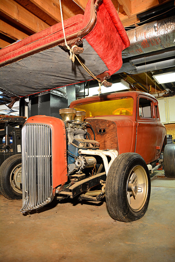 1934 Plymouth Coupe Removed From Basement After 30 Years