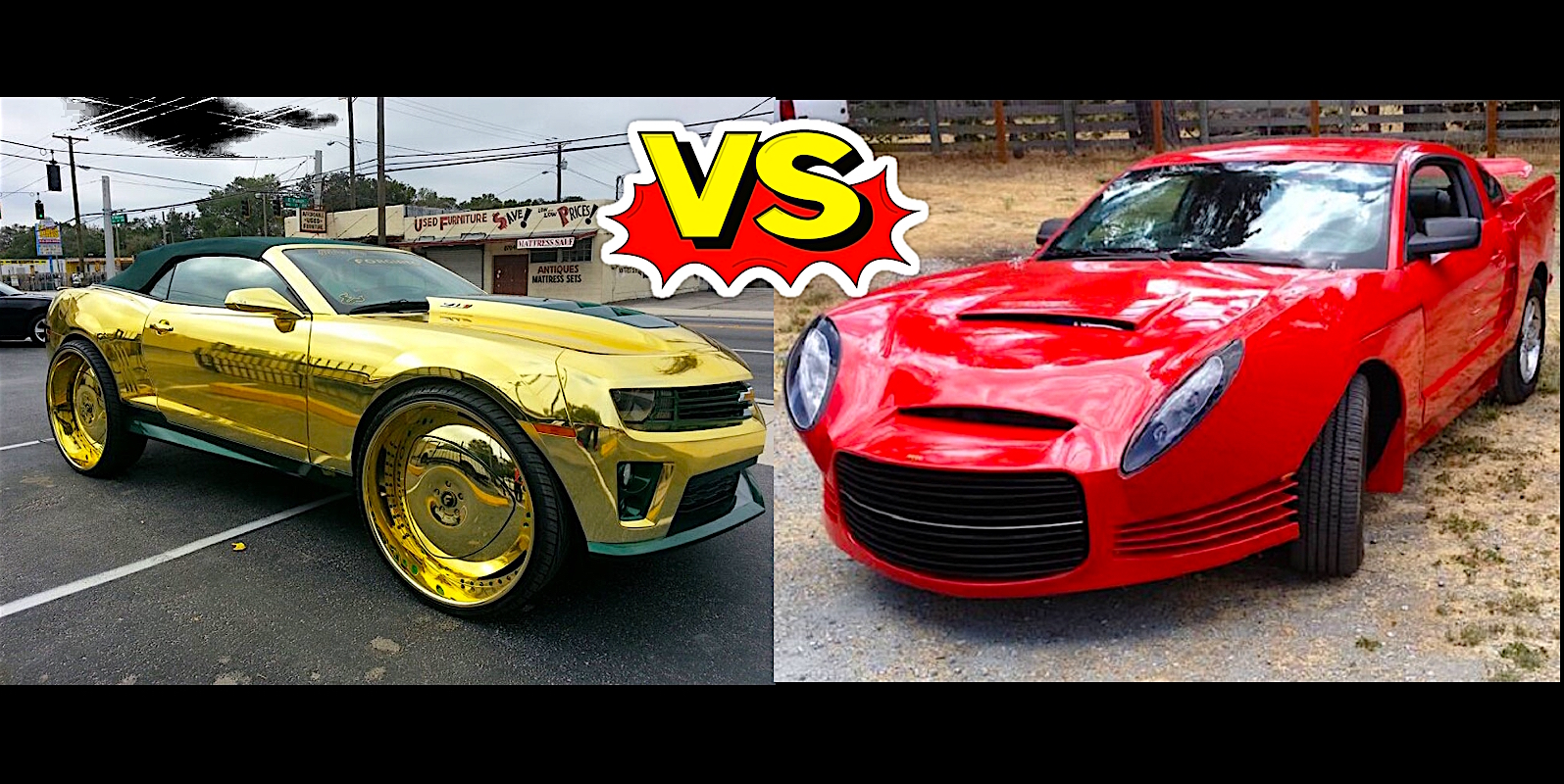 Fugly Off Gold King Camaro Vs Bad Mustang