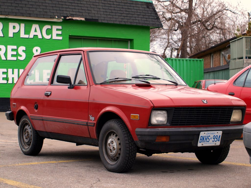 The Yugo is the definition of joke cars