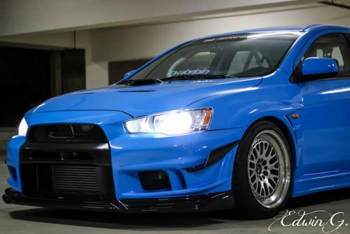 2013 Mitsubishi EVO from Furious 7 - Front