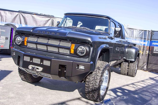 15 of the coolest and weirdest vintage pickup truck resto mods from sema 2016. Black Bedroom Furniture Sets. Home Design Ideas