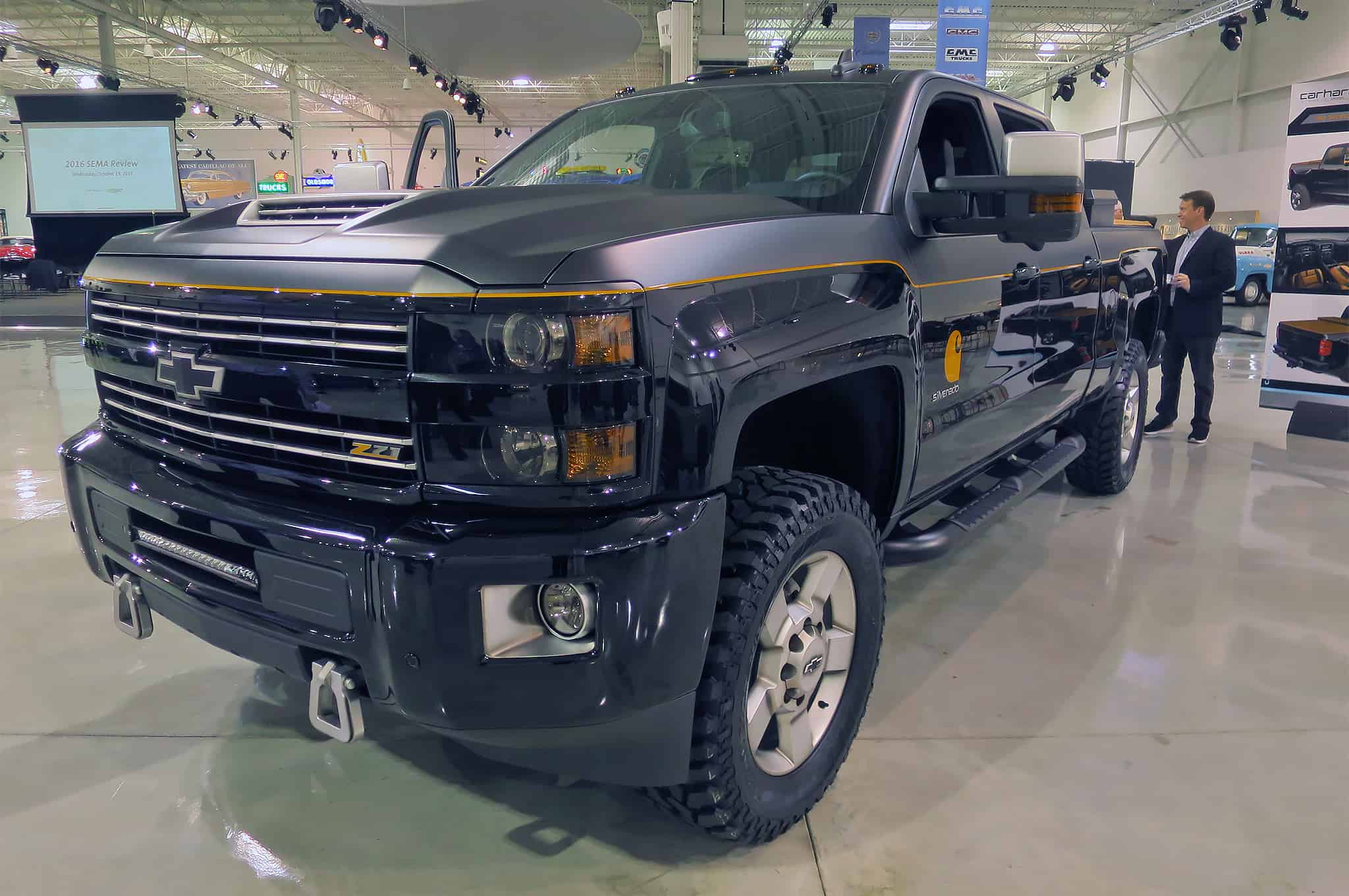 Custom Pickup Trucks & Concept Trucks - chevrolet-silverado-hd-carhartt-concept-front-three-quarter