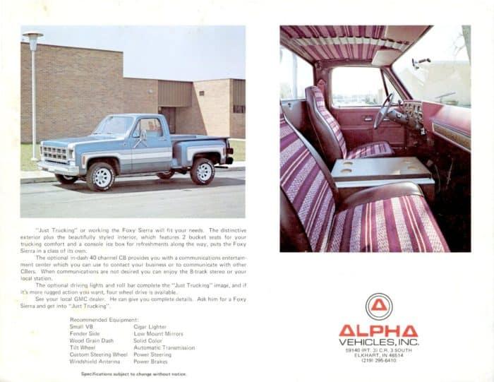 GMC Foxy Sierra Advert 2