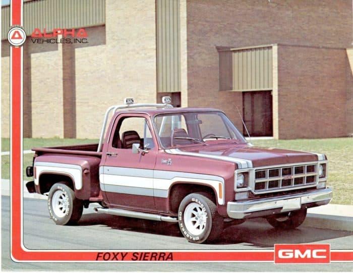 GMC Foxy Sierra Advert