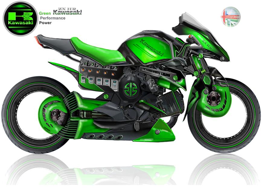 Hybrid Kawasaki ZX-HR 1