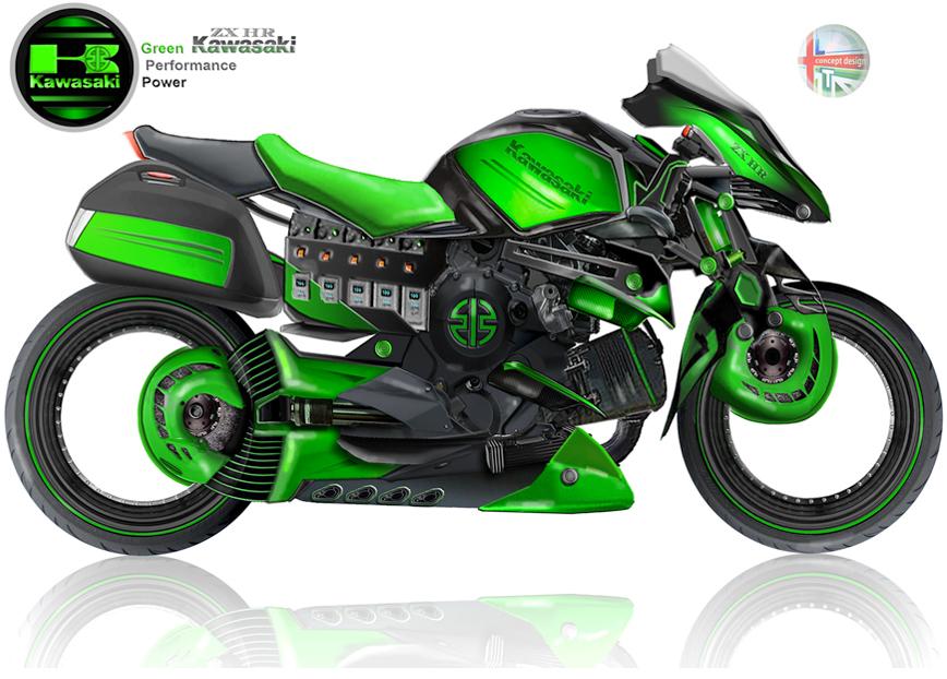 Hybrid Kawasaki ZX-HR 4