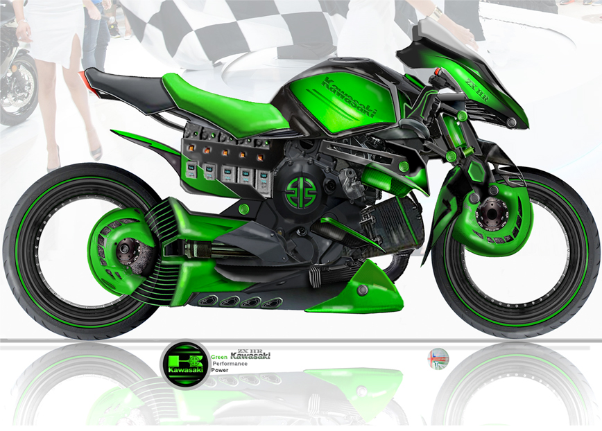 Hybrid Kawasaki ZX-HR 2