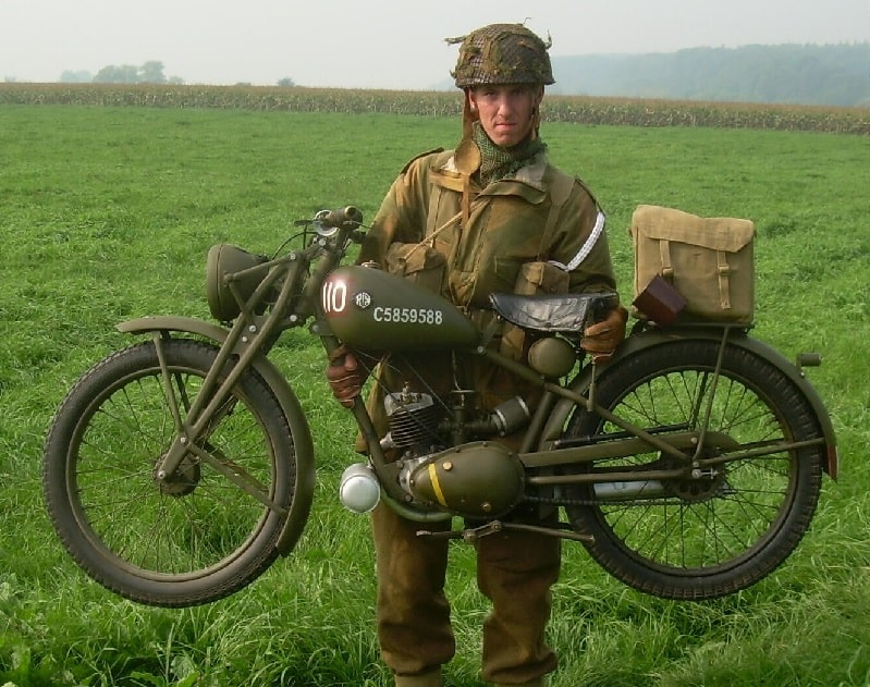 military motorcycles motorcycle army enfield royal re cut wd