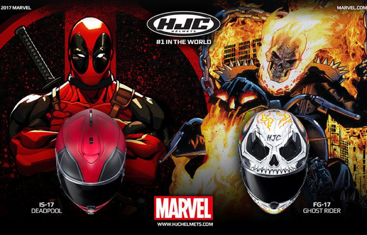 Finally, HJC Are Bringing Us The Helmet We Want! Deadpool And Ghost Rider!