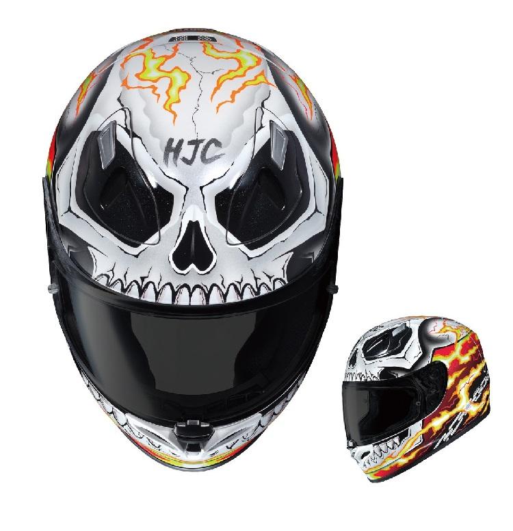 Ghost Rider & Deadpool Motorcycle Helmet 3