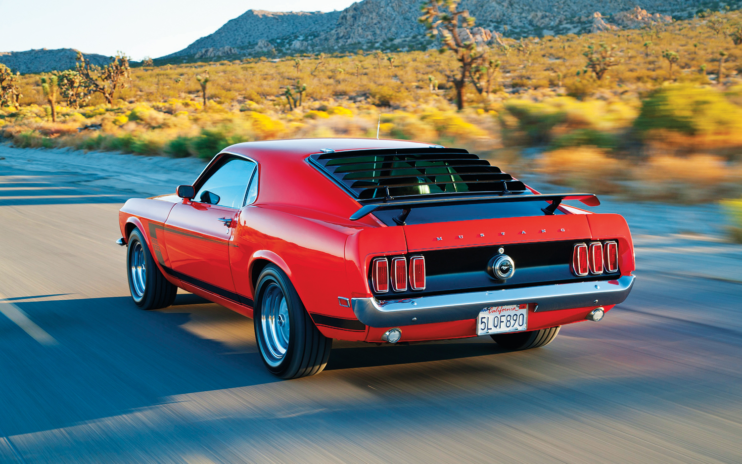 1969 ford mustang boss 302 rear left view