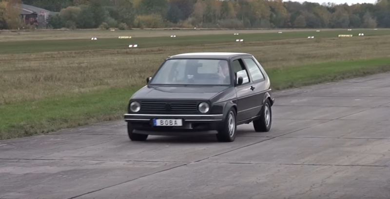 Modded VW Golf Takes Down Supercars On The Drag Strip (Video)