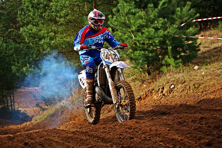Dirt Biker On The Trail