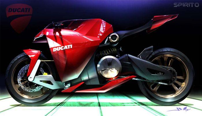 The Ducati Spirito Elettrico An Electric With A Top Sd Of 205 Mph