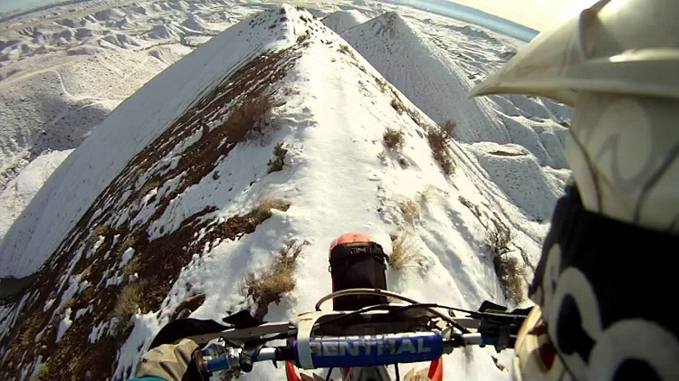 Perfect Line For A Dirt Bike!
