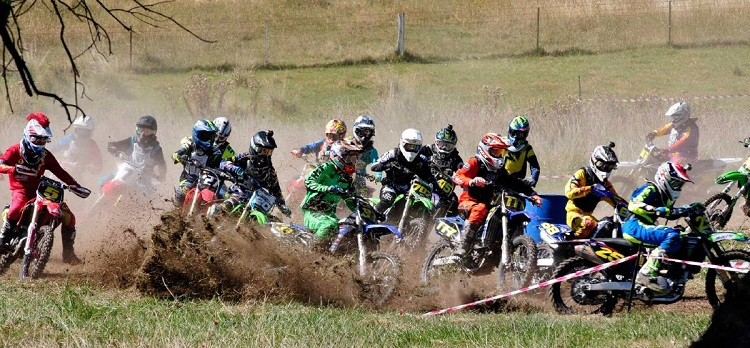 Riders Negotiating Tricky Conditions