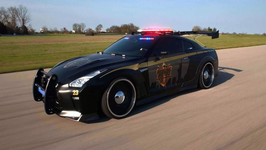 Nissan GT-R Police Car Is Real, Stanced And Fast
